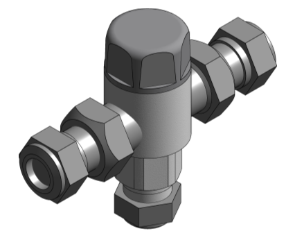 Revit, Bim, Store, Components, MEP, Object, Altecnic, Mechanical, Pipe, Merchant, 5213, Thermostatic, Mixing, Valve
