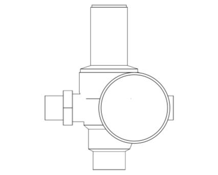 Revit, Bim, Store, Components, MEP, Object, Altecnic, Mechanical, Pipe, Prescal, 536, Pressure, Reducing, Valve, Male, BSP
