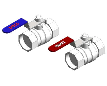 Revit, BIM, Store, Components, Architecture, Object, Free, Download, Ball, Isolate, Lever, Red, Blue, Pipe, System, MEP, Plumbing, Mechanical, Valve,