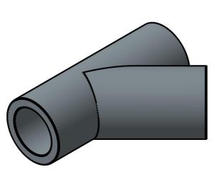 Product: PVC - Tee 45 deg