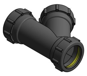 Product: Vulcathene Mechanical - Single Wye - W37