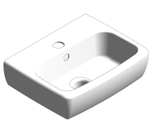 Product: E100 Square 320x280mm Washbasin