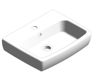 Product: E100 Square 450x350mm Washbasin