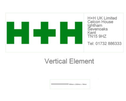 Revit, Bim, Store, Components, Wall, System, 14, Metric, H+H, UK, Limited, Block, Internal, External, Wall, Vertical, Element