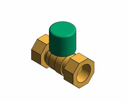 Revit, BIM, Store, Components, Architecture, Object,Free,Download,MEP,Mechanical,Pipe,Hattersley,Valve,Ball,DZR,Hatts,100CLS,lockshield,compression,end