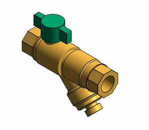 Product: Fig. 1807 - DZR Strainer Ball Valve