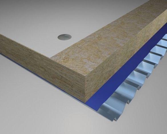 Warm Flat Roof Steel Deck U Value 0 22 W M K Bimwarehouse