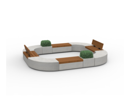 Bim,content,object,component,BIM, Store, Revit,original,library,family,families,marshall,landscaping,external, furniture, metrolinia, collection, outdoor, modular, system, timber, seating, options, curved ,benches, planter, combined,contemporary,urban,building,blocks