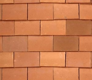 Product: 265x165mm Handmade Clay Antique Red Roofing Tile