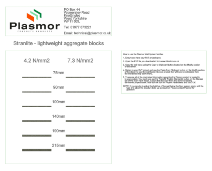 Bim, Content, Object, Component, BIM, Store, Revit, Plasmor, Ltd, Wall, System, Blocks, Aggregate, Concrete