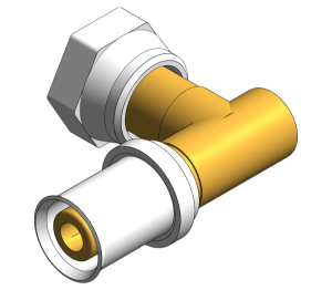Product: PolySure - Brass - Bent Tap Connector